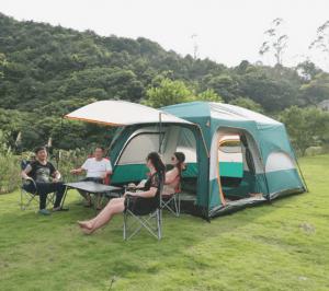 lều 10-12 người 2 lớp chất lượng cao,  thiết kế thông minh,chống được mưa lớn