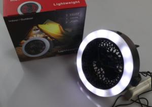 Đèn quạt sạc usb 3 trong 1, đèn quạt treo lều, đèn quạt dùng dây sạc điện
