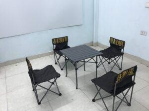 Bộ bàn ghế dã ngoại cao cấp, bàn kim loại