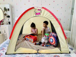 lều trong nhà cho bé, lều trại lắp phòng ngủ cho bé kích thước 1,3m rất rộng