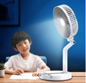 đèn quạt tích hợp, đèn quạt sạc usb dã ngoại, đèn quạt gấp thông minh, bán đèn quạt tích hợp sạc usb tại hà nội, bán đèn quạt tích điện tại TPHCM