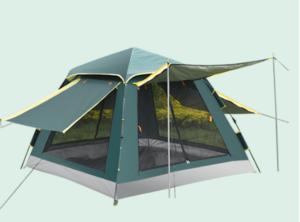 lều bật tự động 3-4 người có 4 mặt thoáng, có mái hiên chống mưa, chống mưa chống nắng cực tốt