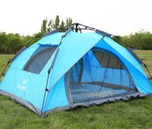lều bật tự động 2 cửa chính, 2 cửa sổ, lều tự bung 2 cửa, lều tự bung loại tốt, dành cho 3-4 người nằm, hàng chất lượng tốt